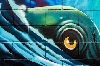Graffiti of a sea monster