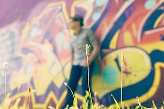 Graffiti on background