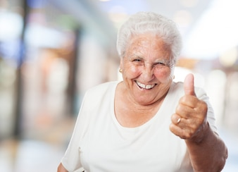 Grandma with thumb up