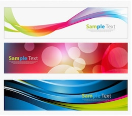 graphics colorful advertisement banner vector