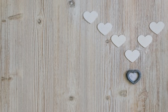 Gray heart with white hearts