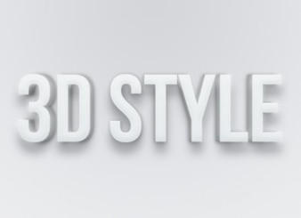 Gray text effect style PSD