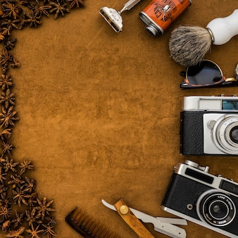 Great composition with star anise for father's day
