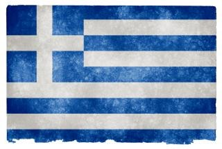 Greece grunge flag  parchment