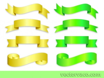 Green & Golden Ribbons