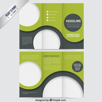 Green abstract brochure