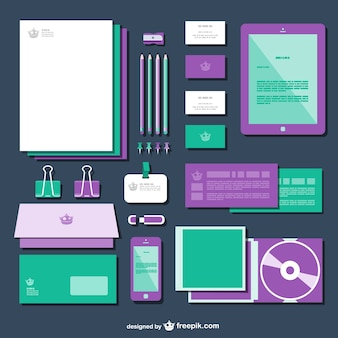 Green and purple mock up vector
