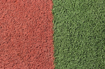 Green and red artificial surface