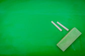 Green blank chalkboard .
