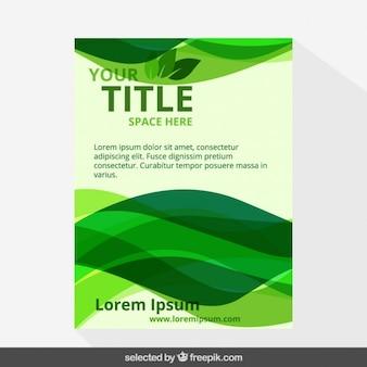 Green eco flyer