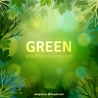 Green eco-friendly concept