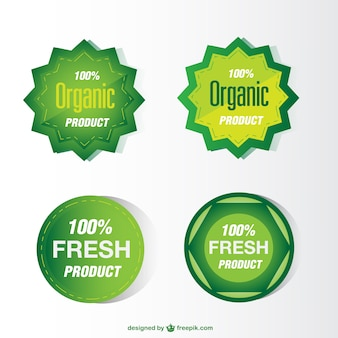 Green eco stickers