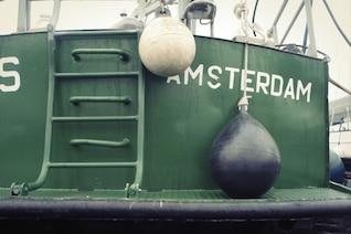 Green fishing boat