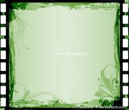 Green floral frame background