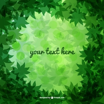 Green forest leaves vector
