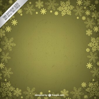 Green frame with snowflakes