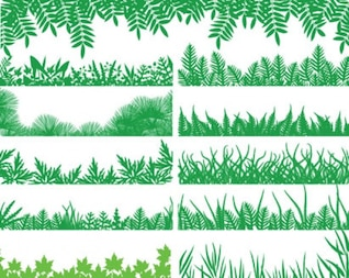 green grass vector pack