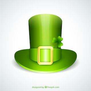 Green hat for Saint Patrick