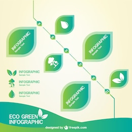 Green infographic free download