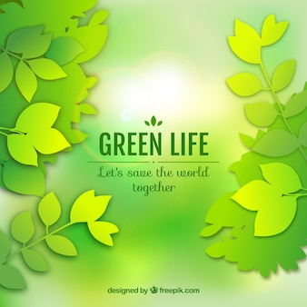 Green life background