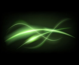 Green lines on dark background
