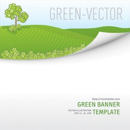 Green Meadow Template Background