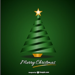 Green merry Christmas background