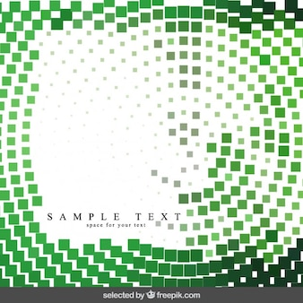 Green pixels background in abstract style