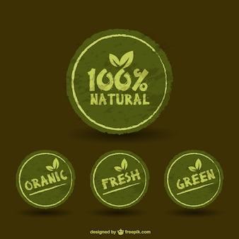 Green retro stickers