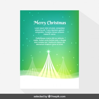 Green snowy Christmas card