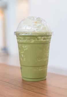 Green tea latte frappe