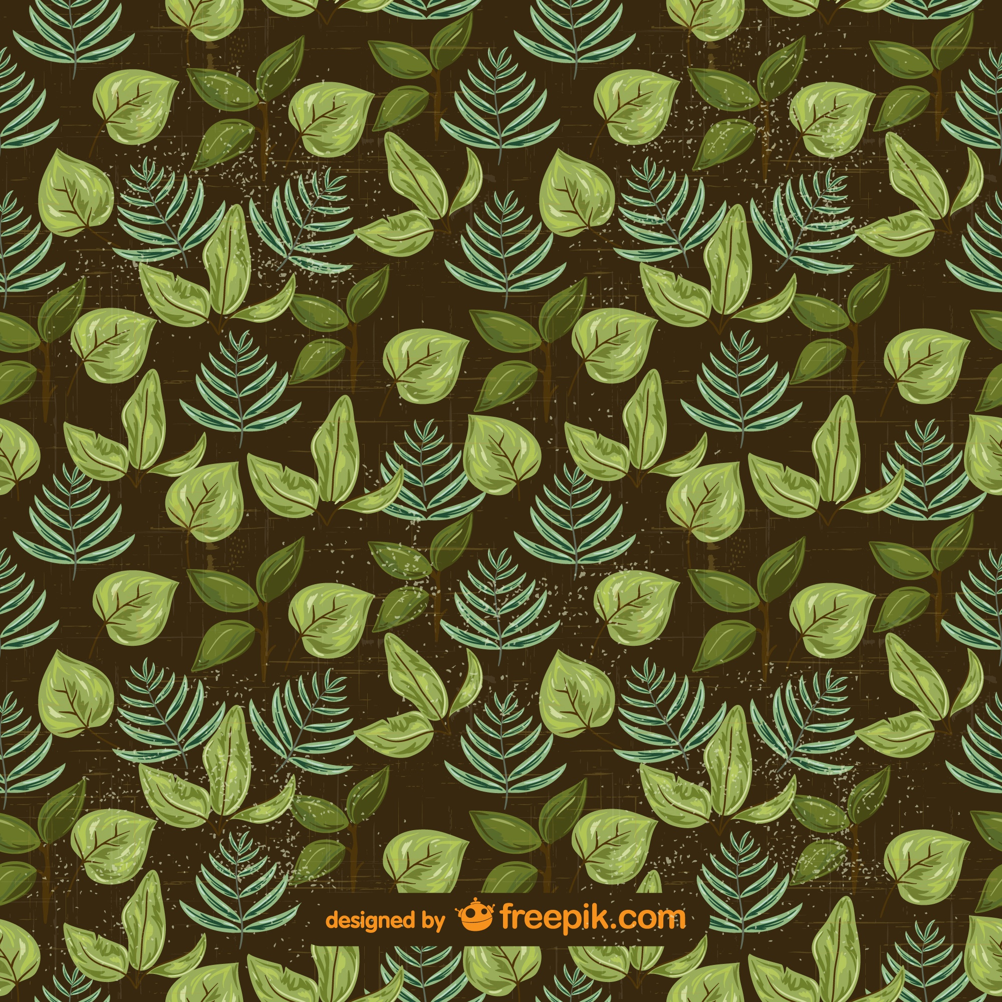 Green vector leaves free background