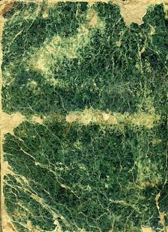 Green vintage folder for paper