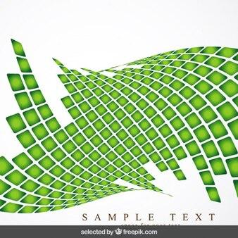 Green wavy checkered background