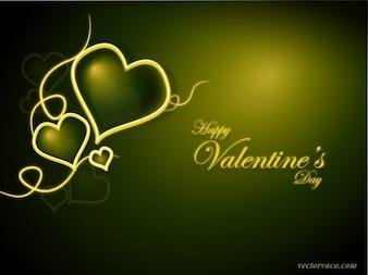 Greeny Valentines Day Background