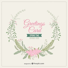 Greetings card in spring style