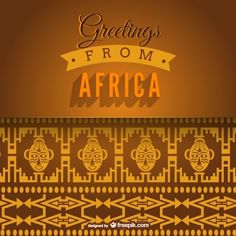 Greetings from Africa vector