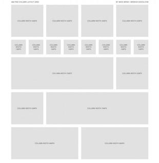 grey  column  psd design grid