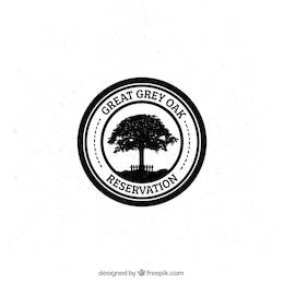 Grey oak badge