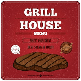 Grill house free vector