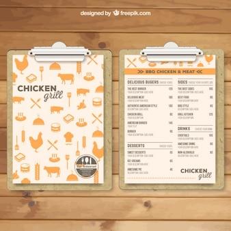 Grill menu template