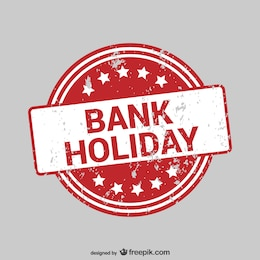 Grunge bank holiday label