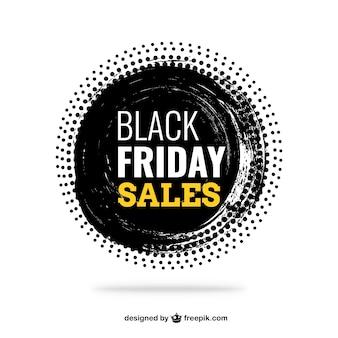 Grunge Black Friday sales label