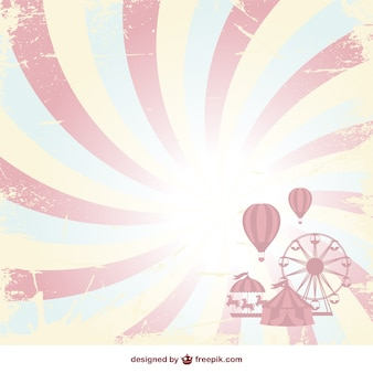 Grunge circus sunburst background