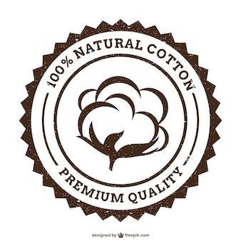 Grunge cotton logo