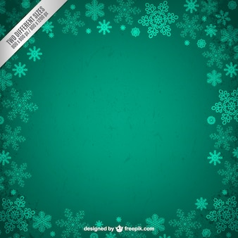 Grunge frame with snowflakes