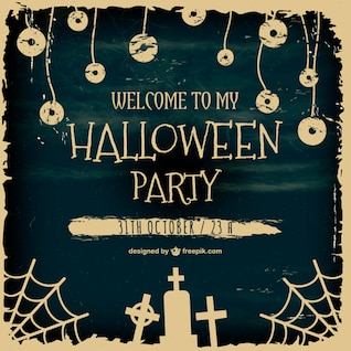 Grunge Halloween party poster
