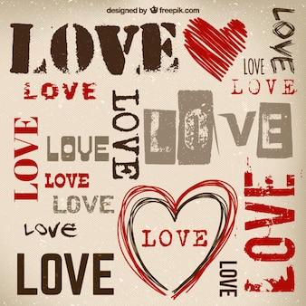 Grunge love background