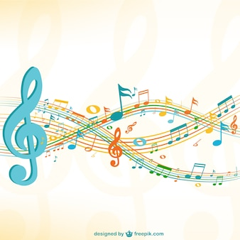 Grunge music sheet background