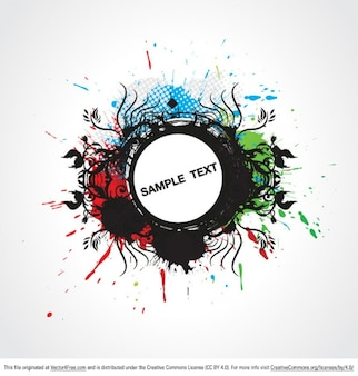 Grunge paint splatters background